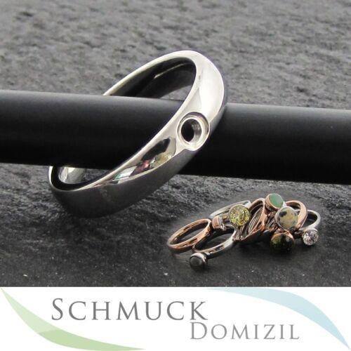 nuevo-Melano Twisted-anillo de acero inoxidable tracy talla 56