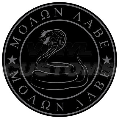 "3"" Molon Labe Decal Sticker Dont Tread On Me Gadsden Snake Tactical Subdued"