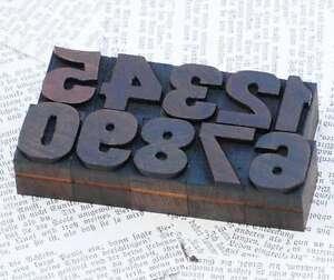 0-9-Zahlen-27mm-Holzlettern-Lettern-Holzzahlen-Ziffer-Zahl-Stoff-Letterpress