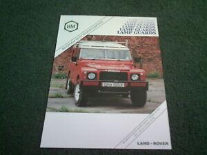 LAND ROVER COUNTY 90 110 /& RANGE ROVER orig 1987 UK Mkt Sales Brochure 4x4