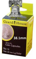 10 Ike Eisenhower Silver Dollar Coin Capsule Direct Fit Guardhouse Holder 38.1mm