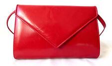 Bruno Magli roja bolso de mano maletín de cuero bolso de mano Bag Leather bandolera