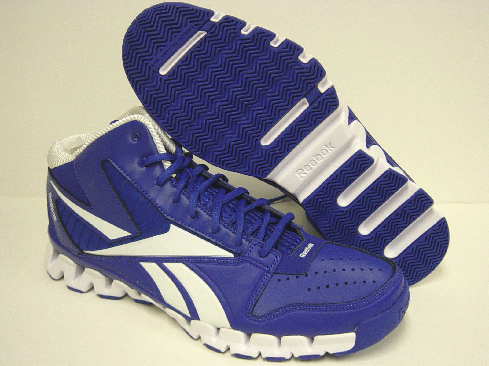 Nuevo Para hombres REEBOK Zig Nano Pro Fury V45139 azul muestra Tenis Deportivas zapatos de baloncesto