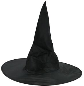 Hexenhut Schwarz Fur Erwachsene Hexe Fasching Zauberer Hut