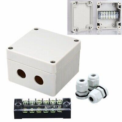 IP66 Waterproof Junction Box Connection Outdoor Terminal Case 63 x 57 x 35mm HQ