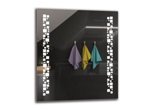 PREMIUM M1ZP-46 Badspiegel mit LED BeleuchtungGrößenvariantenWandspiegel