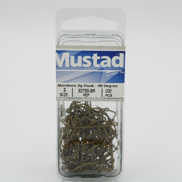 50-Pack Mustad Aberdeen Jig Hook with 90-Degree Bend