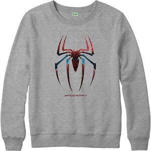 Image Is Loading Spiderman Logo Sweatshirt Web Jumper Marvel Comics