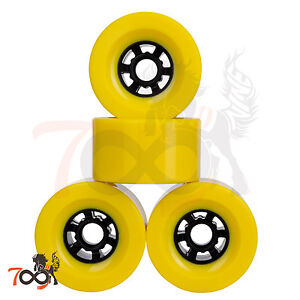 Cal-7-Pro-90mm-78A-Cruiser-Skateboard-Wheels-Longboard-Flywheel-Yellow-4pcs