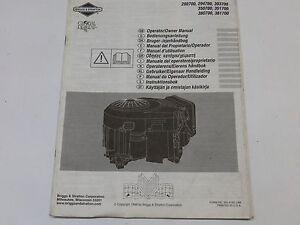 briggs stratton engine operator owner manual no 380700 381700 rh ebay co uk