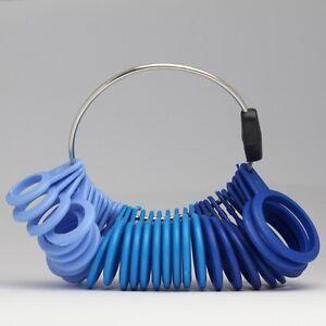 Calibrador-de-medida-anillo-de-dedo-Sizer-todos-los-tamanos-Reino-Unido-A-Z-6-plastico-32-Pieza