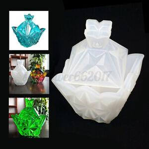 Silicone-Mold-Resin-Epoxy-Decorative-Craft-DIY-Pyramid-Diamond-Storage-Boxes-AU