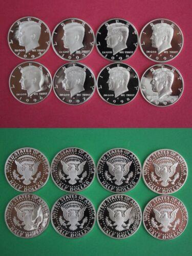 Silver 1992 1993 1994 1995 1996 1997 1998 1999 Kennedy Proof Half Dollar Run