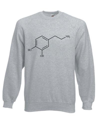 JOY il neurotrasmettitore dopamina Compound molecola Maglione Pullover Pullover ai28