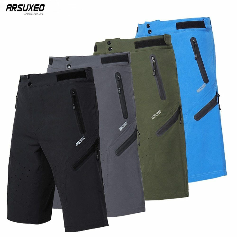 ARSUXEO Mens Outdoor Sports Cycling Shorts Downhill MTB Shorts Mountain Bike