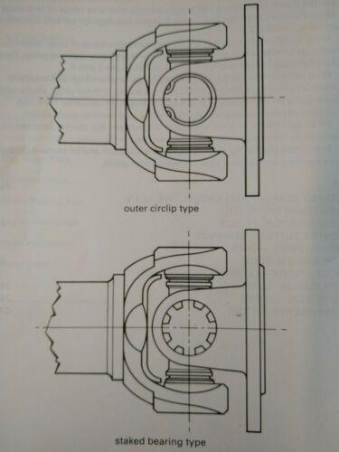 FORD CAPRI MK1 MK2 MK3 1969-1986 STAKED BEARING PROPSHAFT UJ RB322