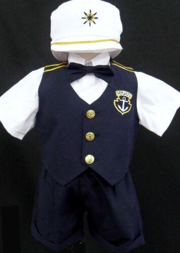 Infant Toddler /& Boy Navy Sailor Captain Shorts Outfit Suit Wedding Party 0-30M