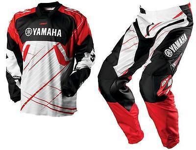 Yamaha Racing One Industries ATV MX Motocross Offroad Pants & Jersey Combo Red
