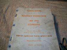 Original Massey Ferguson Mf 510 Combine Parts Book Manual