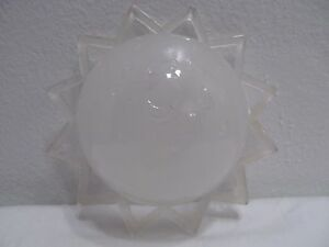 Vtg glass ceiling light shade ceiling light fixture atomic stars image is loading vtg glass ceiling light shade ceiling light fixture aloadofball Image collections
