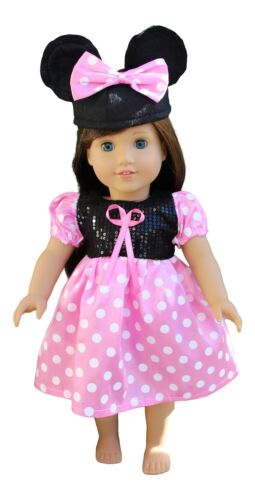 AMERICAN GIRL DOLL CLOTHES MINNIE MOUSE DRESS FITS 18 INCH Five stars