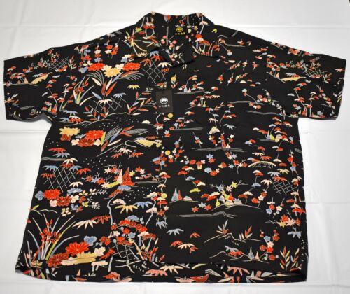 Vintage Japan Kimono remake Hawaiian Aloha Shirt X