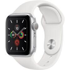 Apple Watch Series 5 GPS Alu 32GB silver 40mm WiFi mit Sport Band Smartwatch