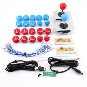 Arcade-Game-DIY-Kits-Parts-USB-PC-Encoder-Board-20-Push-Buuttons-2-Joysticks