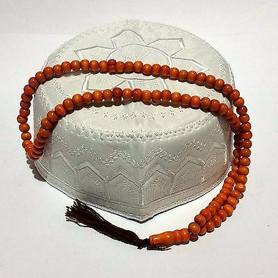 Cappello Da Preghiera Timpanaro Perline Di Misbaha Subha Berretto Namaz Islamica Garanzia Al 100%