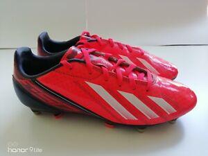 Junior-Adidas-F10-TRX-FG-Chaussures-De-Football-UK-5-5-Orange-Noir-et-Blanc