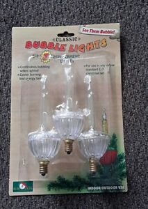 Details About 3 Kurt S Adler Bubble Light Replacement Bulbs C7 New In Box Classic A1