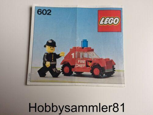 Lego® 602 Town Bauanleitung Fire Chief's Car Baukästen & Konstruktion LEGO Bau- & Konstruktionsspielzeug Feuerwehrwagen