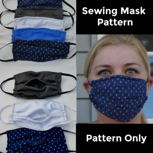 Pattern Only Face Mask Sewing Pattern With Filter Pocket Pattern Only Ebay