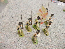 Elastolin 70mm  American Revolution AWI Prussian Infantry Special Paint x8