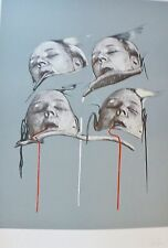 "DARIO VILLALBA "" MUJERES "" HAND SIGNED NUMBERED LITHOGRAPH Spanish Artist"