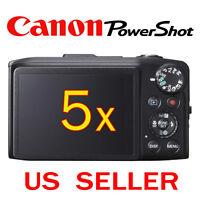 5x Canon Powershot Sx280 Hs Camera Lcd Screen Protector Guard Shield Film