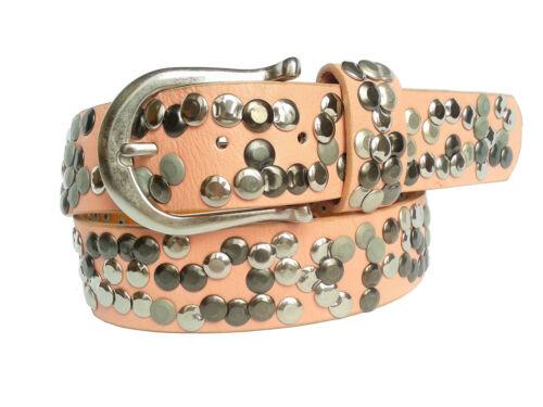 NIETENGÜRTEL Damen Herren Leder XL Vintage Nieten Gürtel 85 100 Belt NEU 129€*