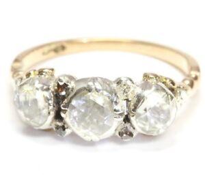 14kt-585-antiker-Damen-Gold-Ring-Jugendstil-Goldring-Diamantring-Diamant