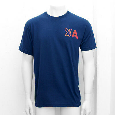NEW Mens Ebbets Field Flannels Blue NA Cotton Summer T Shirt Top GENUINE RRP £45