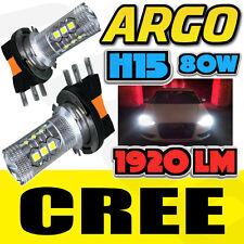 2x H15 BULBS WHITE CREE LED 80W HEADLIGHT DAYTIME RUNNING LIGHT VW GOLF MK6 MK7