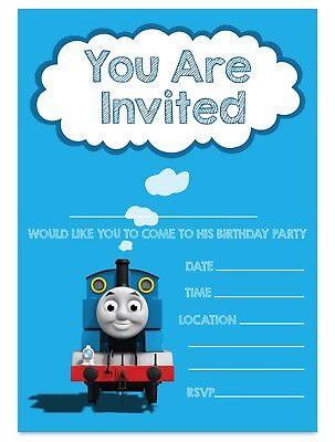 10 Personalised Thomas The Tank Engine Birthday Party Invites Invitations PHOTO