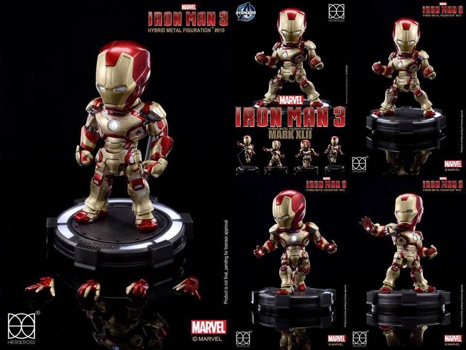 Iron Man  3 Herocross Hybrid Metal figuración HMF 010 Iron Man Mark XLII  centre commercial de la mode