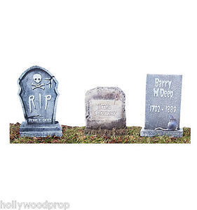 Charming Details About GRAVEYARD TOMBSTONE LIFESIZE STAKED YARD LAWN SIGNS HALLOWEEN  DECORATIONS CUTOUT