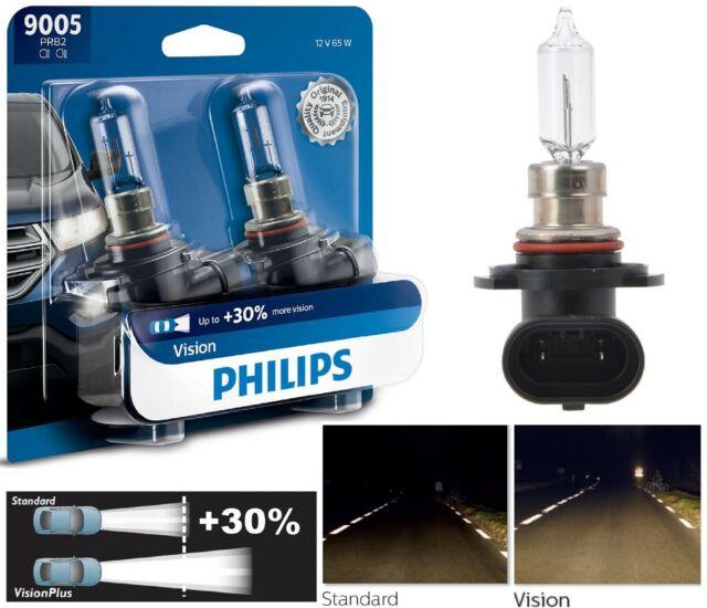 Philips Vision 30% 9005 HB3 65W Dos Bombillas Luz Diurna Recambio Lámpara