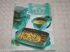 livre recettes tupperware cuisine au micro ondes avec microplus tupperwave 200 ebay. Black Bedroom Furniture Sets. Home Design Ideas