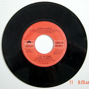 ONE-1979-039-S-45-R-P-M-RECORD-GLORIA-GAYNOR-ONE-NUMBER-ONE-LET-ME-KNOW