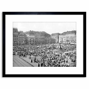 Vintage-Photo-Dresden-Altmarkt-1900-Germany-Framed-Print-9x7-Inch