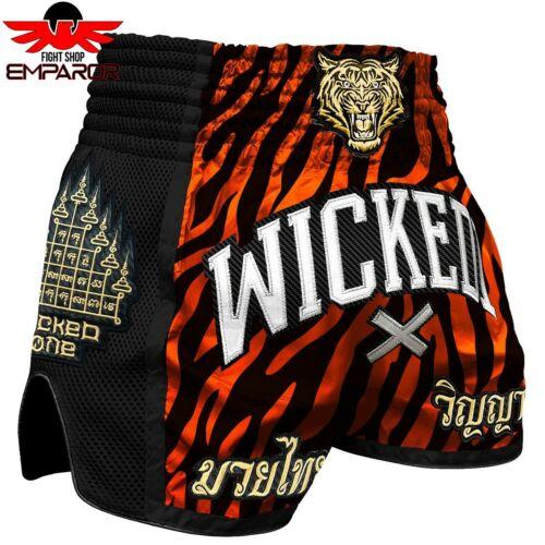 "Wicked One Muay Thai Shorts /""Tiger Stripes/"" Kickboxhose Thaiboxhose S M L XL"