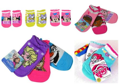 Girls Toddler Socks 3-Pairs Minnie Mouse Frozen My Little Pony Doc McStuffins