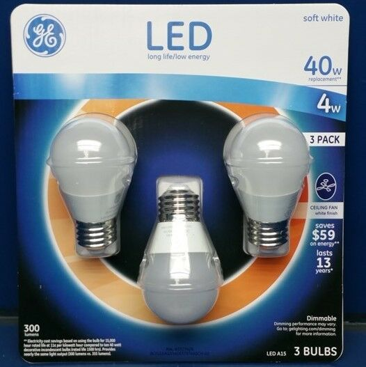 Ge 4 Watt A15 Led Ceiling Fan Bulb Soft